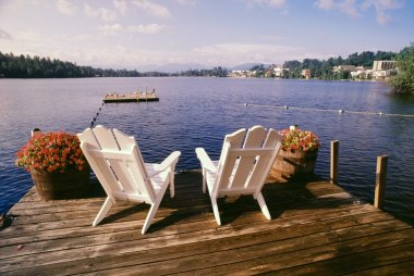 Chairs On Deck, Adirondack Park, USA