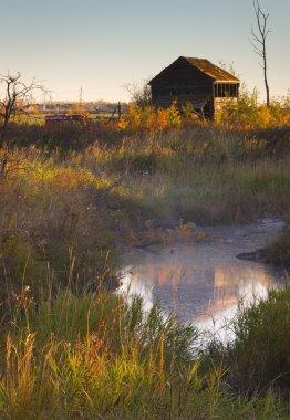 Abandoned Shack And Creek