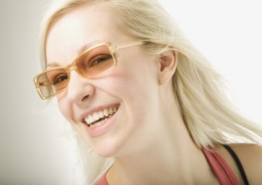 Young Blond Woman Wearing Sunglasses