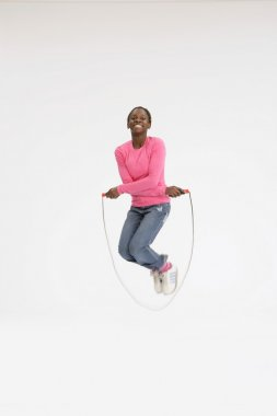 Girl Using A Skipping Rope