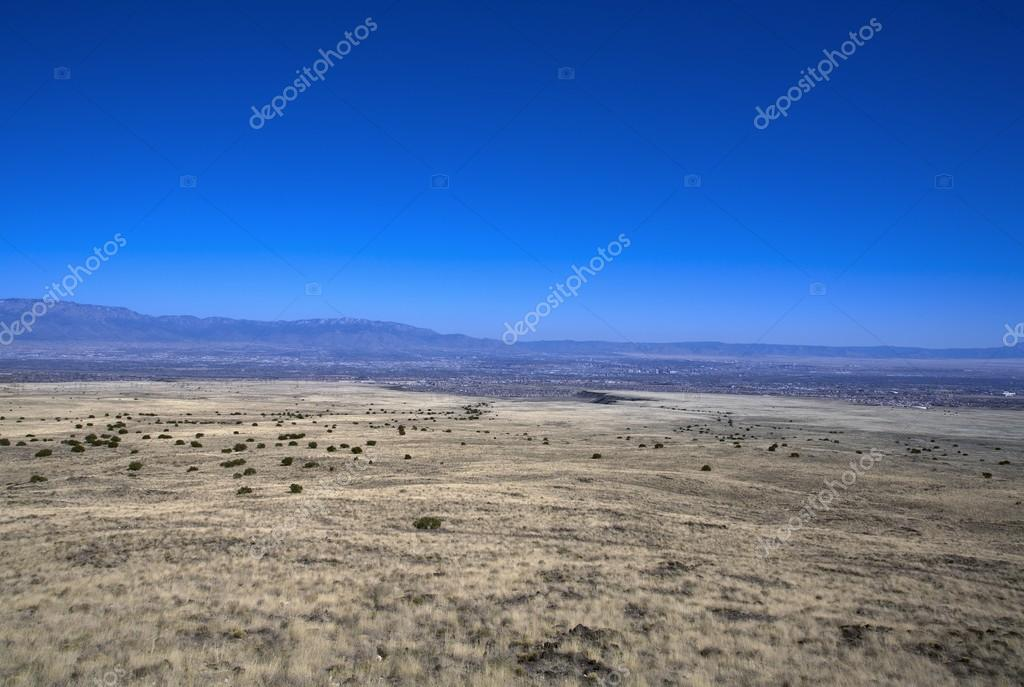 East View Of Albuquerque, New Mexico, In The Far Distance