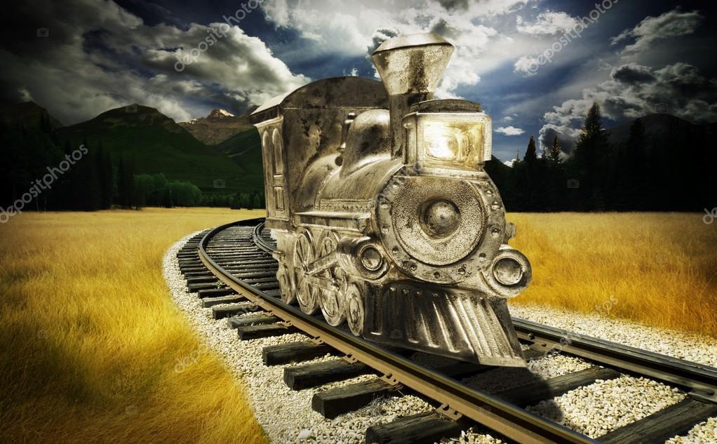 Train Going Through The Mountain
