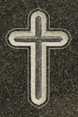 Cross On Grave stock vector