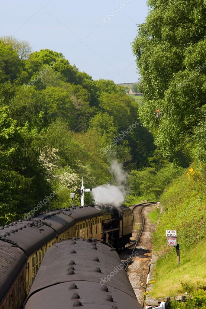 Train Going Through Goathland, North Yorkshire, England