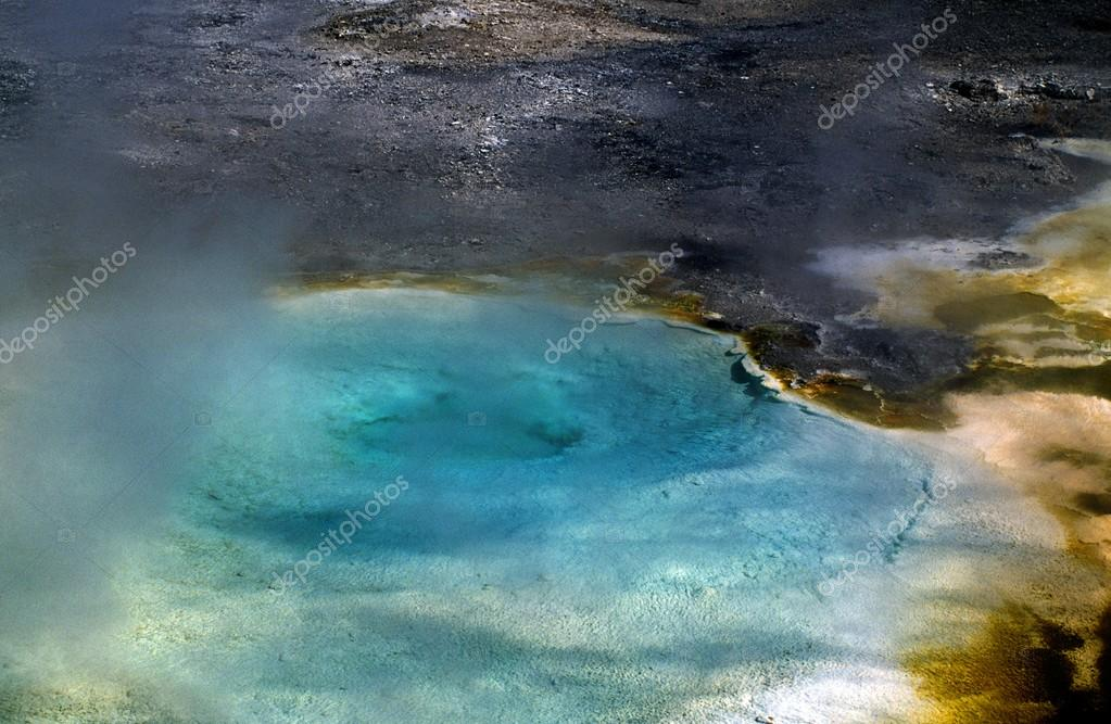 Wyoming, USA. Hot Pool In Yellowstone National Park