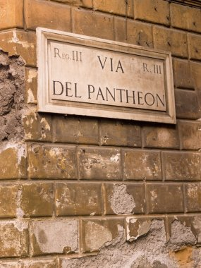 Pantheon sign, Italy