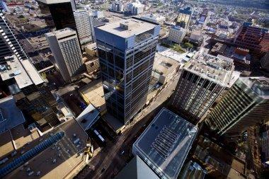 Aerial Of Downtown Edmonton, Alberta, Canada
