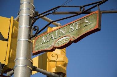 Kenora, Ontario, Canada. Main Street Sign