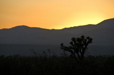 Tehachapi mountains, sunset