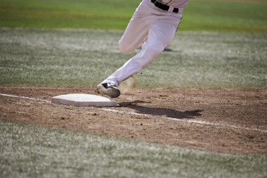 Baseball Player Running Home