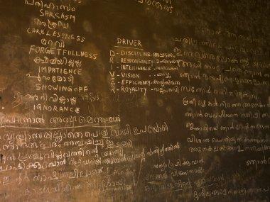 Writing On Chalk Board