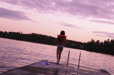 Girl Going Swimming