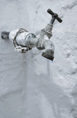 Old Tap Leaking Water