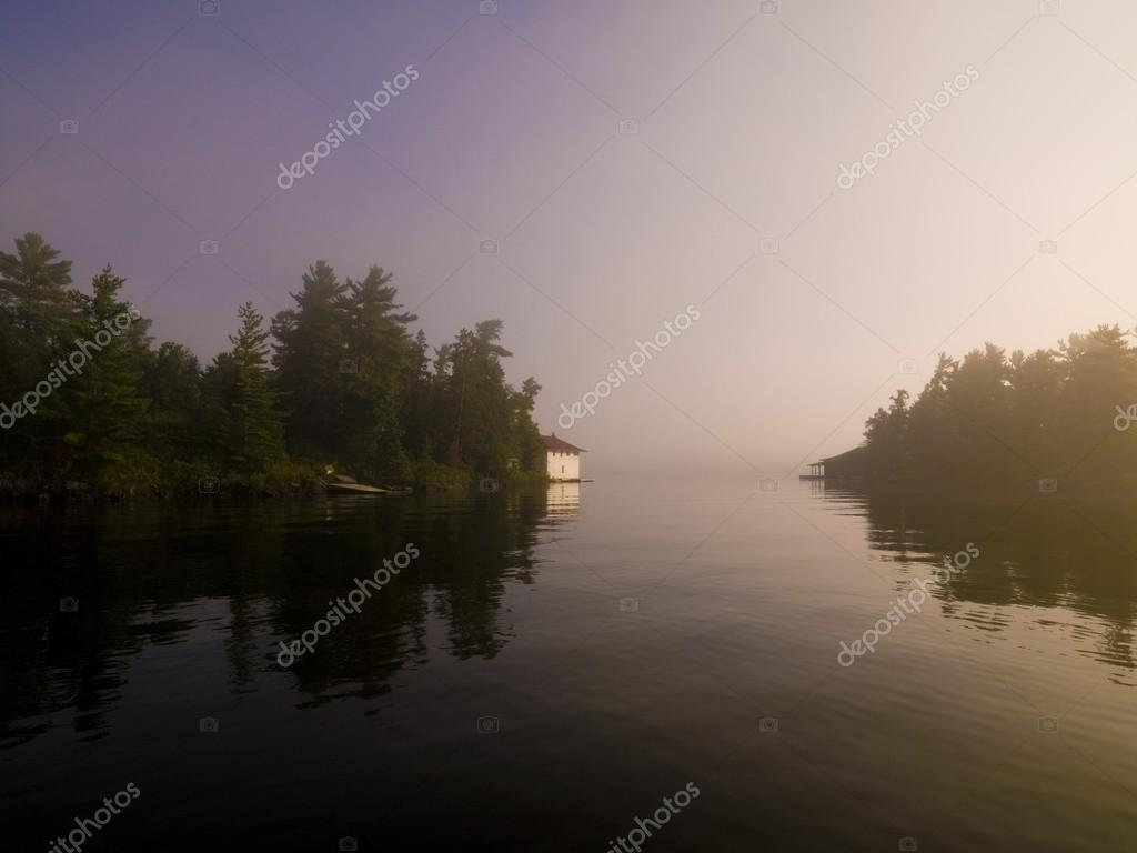 Lake Of The Woods, Ontario, Canada, Peaceful Setting On A Lake