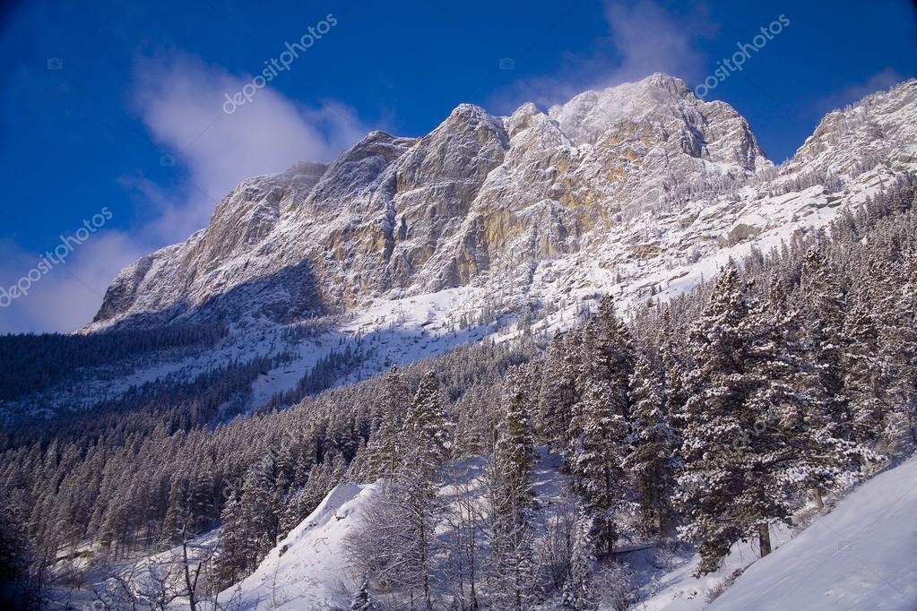 Mountain Scene In Canmore, Alberta, Canada