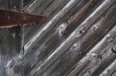 abgenutzte Holztür