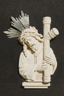 Religious Icons In Spanish Cemetery stock vector