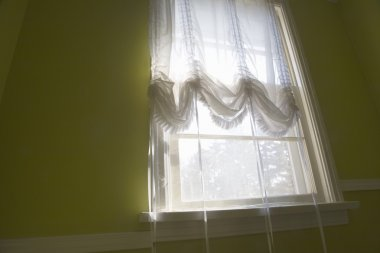 Window With Sheer Curtains