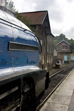 Sir Nigel Gresley Steam Locomotive, North Yorkshire, England
