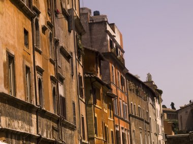 Weathered Buildings, Rome, Italy