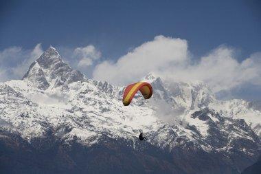 Paragliding, Annapurna Region, Himalayas, Pokhara, Nepal