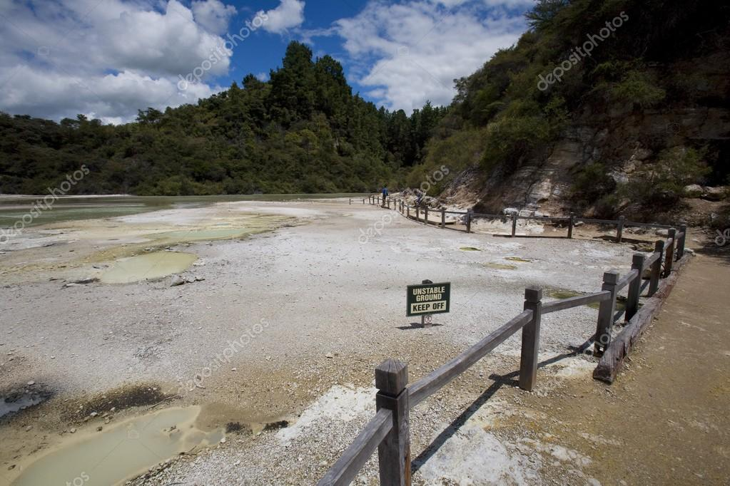 Champagne Pool At Geothermal Site, Wai-O-Tapu Thermal Wonderland On North Island Of New Zealand