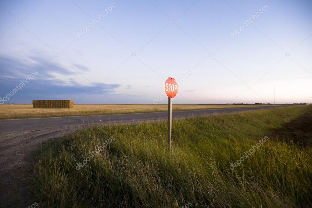Stop Sign, Rural Road