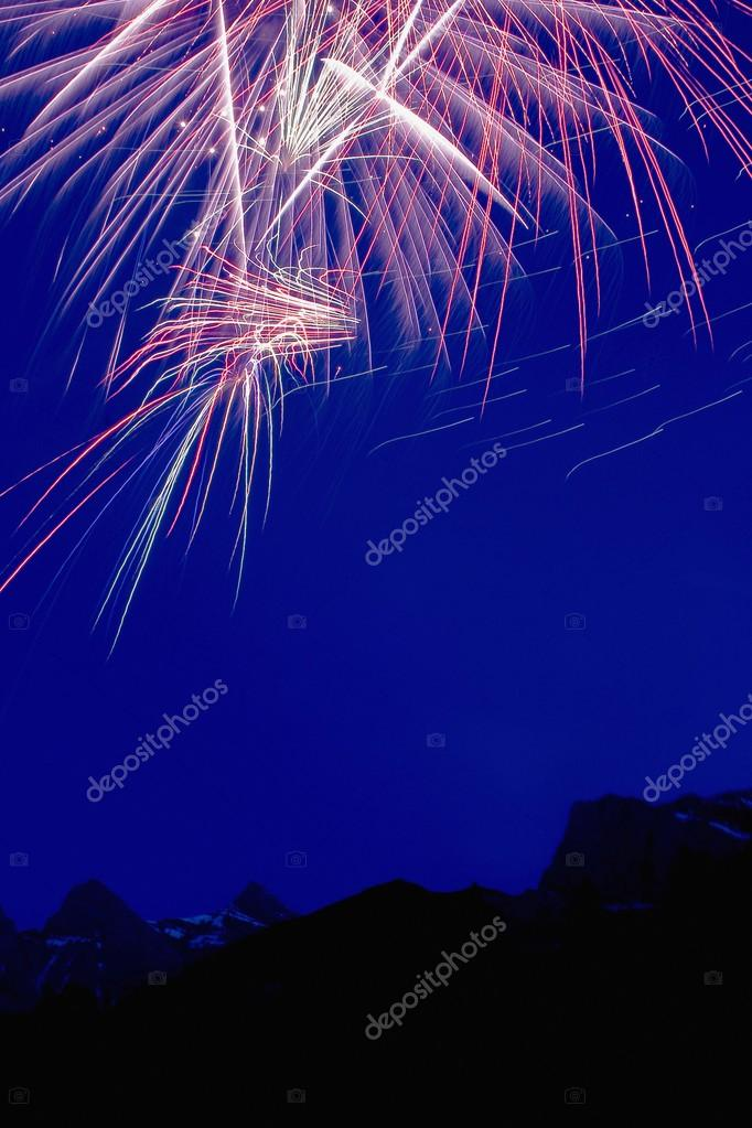 Fireworks Over The Mountains