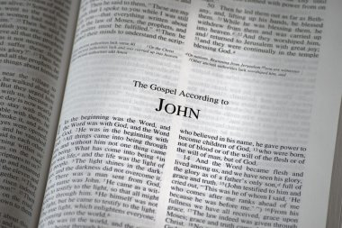 The Bible Opened To The Book Of John