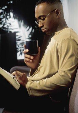 Man Reading stock vector