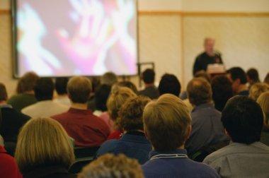 Church Congregation Watching Video