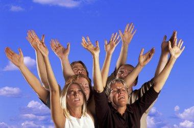People Raised Their Hands