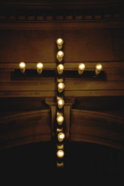 Cross With Lights