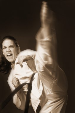 Woman Performing Martial Arts