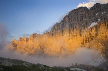 Sunset On The Dolomites And Mount Civetta. Veneto, Italy