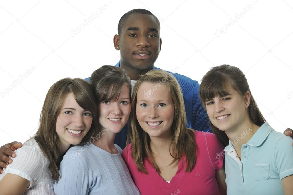 Portrait Of Young Adult Interracial Stock Footage Photo