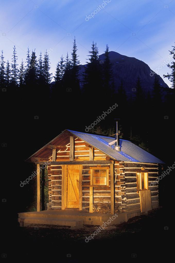Wood Cabin In Forest