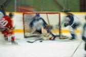 hokejista, střelba na cíl