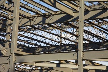 Steel Construction For A Commercial Building