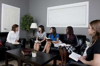 Group Of Women Having A Bible Study