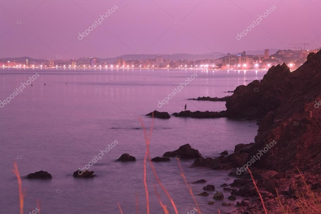 Fuengirola On The Costa Del Sol Seen At Night