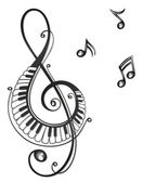 Clef, music, notes