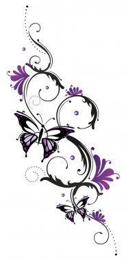 Flowers, tribal, floral