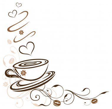 Coffee, cup, coffee beans