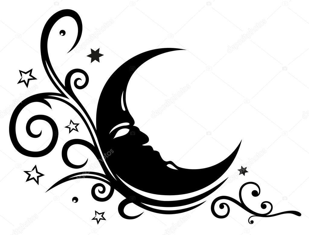 Moon stars tribal stock vector christine krahl 31468831 - Dibujos tribales para tatuar ...
