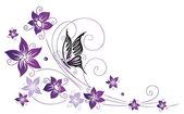 Květiny, motýl, květy
