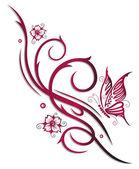 Törzsi, cherry bimbók, virágok