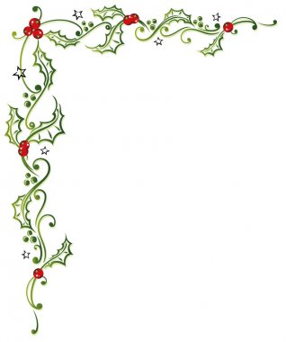 Christmas, holly, leaves