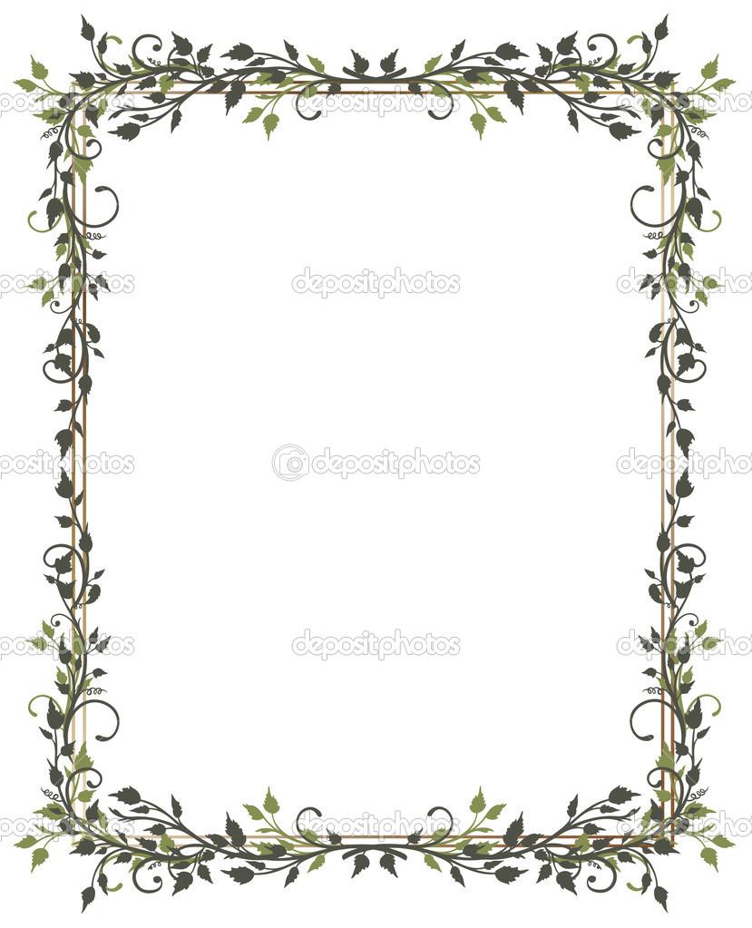 Spring leaves frame stock vector christine krahl - Plantas de hojas verdes ...