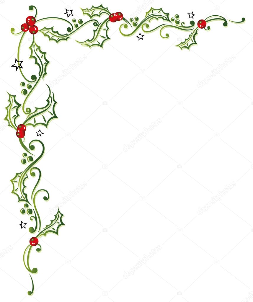 Christmas holly leaves stock vector christine krahl for Holl image